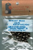 "American Tag Nailheads - Antique Brass 3/16"" Big Top (100/Pkg)"