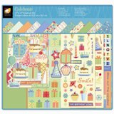 American Traditional - Celebrate - Boxed 12x12 Scrapbook Kits w/AlbumsPaper, Stickers, Die Cuts, Chipboard, Ribbons, Buttons