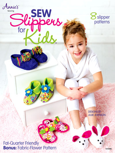 Annie's Attic Book - Sew Slippers for Kids!