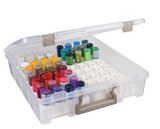 Artbin Glitter Glue Storage Box with Trays Holds 64 Bottles