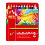Caran d'Ache Supracolor Watercolour (watercolor) Pencils - 18 colours