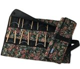 "Clover Takumi Bamboo Circular Knitting Needle Set in Tapestry Case 16"" Size 6-13"