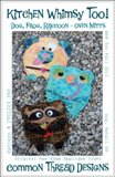 Common Thread Designs Kitchen Whimsy Too Pattern - Dog, Frog & Racoon Oven Mitts