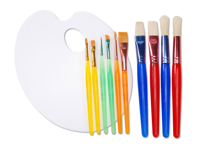 10 Brush Assortment with Palette