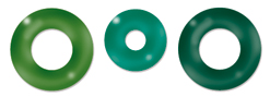 Cloud 9 Rain Dots - Eyelets - Greens
