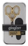 "Gingher Embroidery Scissors 3.5"" Epaulette, Gold Handle"