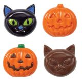 Wilton Candy Mold - Halloween Cookie Candy Mold - Cat and Jack-O-Lantern